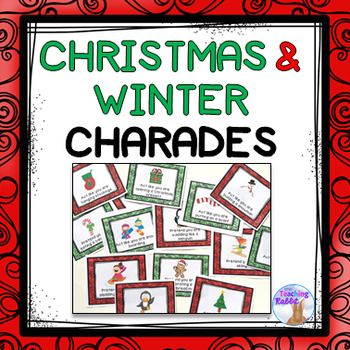 Use these 12 FREE Christmas and Winter charades cards for a drama activity or for a brain break!Other Drama Resources:Fall Charades (FREE)Drama - CharadesDrama - Tableaux Task CardsDrama - Emotions CardsMovements in Nature Task Cards