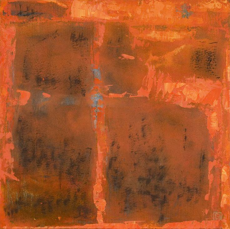 Ardor 2 de 2  acrilico y oleo sobre madera 35 x 35 cm 2007