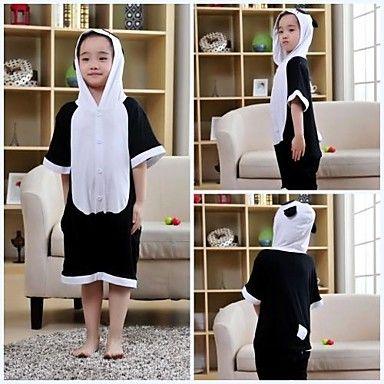 Kids Black Panda Modal Kigurumi Pajamas For Summer