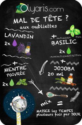 Maux de tête ? On est CONTRE ! Olyaris vous propose l'huile essentielle de lavandin à combiner, pour un mélange des plus efficaces !