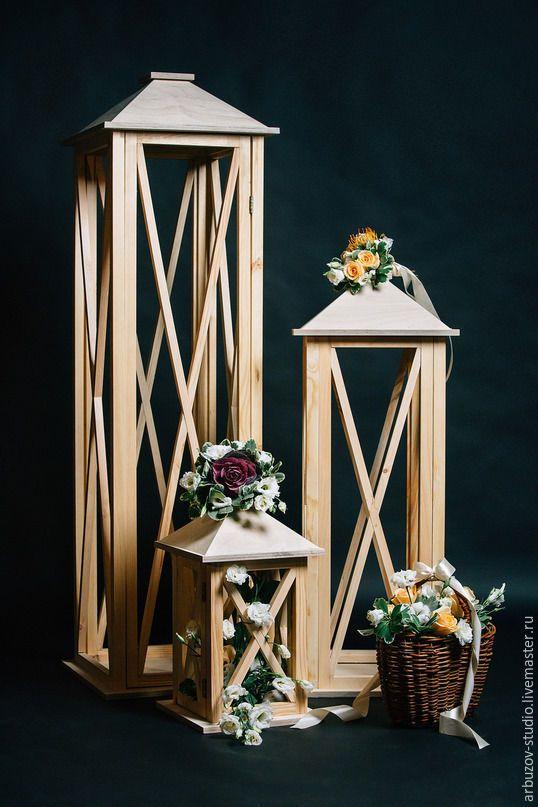 Купить Фонари из дерева - белый, фонарь, фонарик, фонари, фонарь подсвечник, Декор, дерево