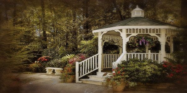 Tips to Make a Romantic Garden Setting with White Wooden Fence and Romantic Pathway also Old Fashioned Flowers and Outdoor Garden Swing Seat with Vintage Garden Items