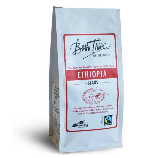 This Ethiopian Sidamo coffee is Fairtrade & Afrisco Organic Certified - buy a bag to enjoy its smooth citrus overtones, round acidity & floral aromas!