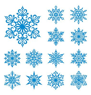 Snowflakes set vector 114257 - by rosinka on VectorStock�