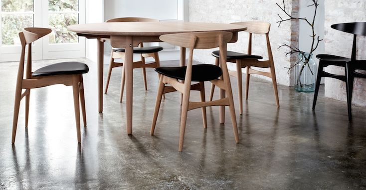 CH33 chairs with CH337 table  Danish Interior Design Budapest