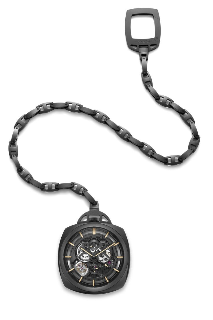 Panerai Pocket Watch Tourbillon GMT Ceramica | LUXUO Luxury Blog