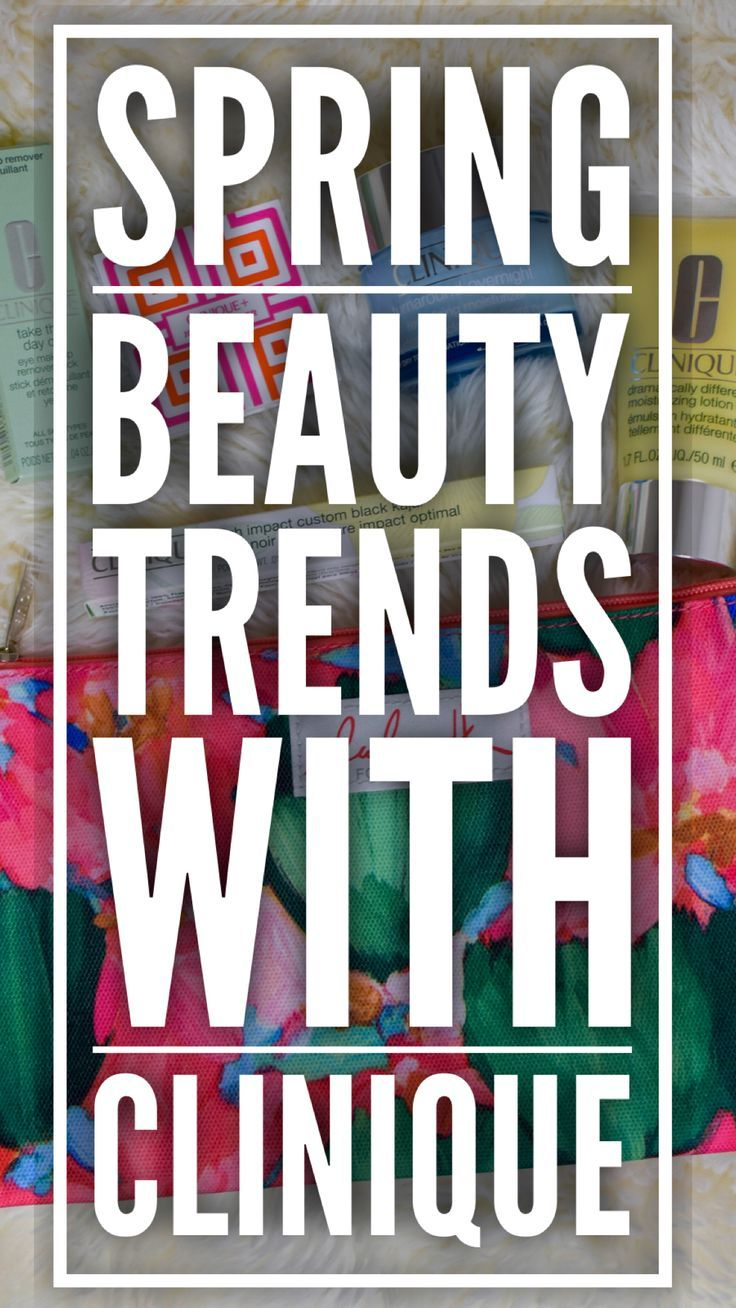 Spring trends with clinique