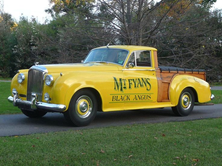 if you 39 re going to make a pickup truck out of a bentley s1 why not paint it yellow yellow. Black Bedroom Furniture Sets. Home Design Ideas