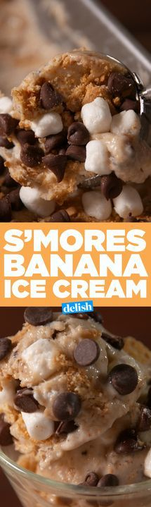S'mores Bananeneis – Köstliche Dessert-Rezepte – #Bananen #Creme #Delicio …   – Funnel Cakes Recipe