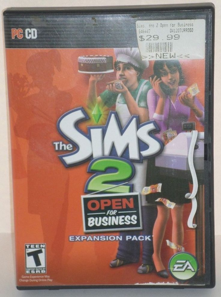 The Sims 2: Open for Business Expansion Pack - PC Disc New #ElectronicArts