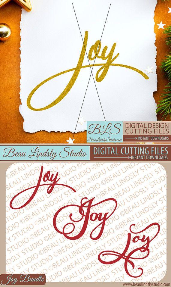 Download Script Joy SVG File, Christmas SVG For Cricut Projects ...