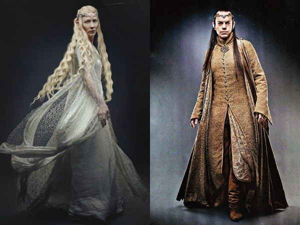 "I really like the costumes of them in ""The Hobbit"".   Elrond & Galadriel (Lord of the ring/the hobbit)"