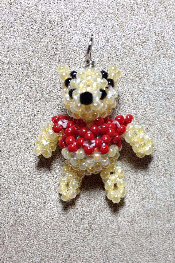 Miniature Japanese Seed Bead Winnie The Pooh Charm Doll Disney
