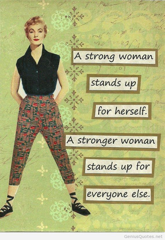 Strong woman hd card wallpaper
