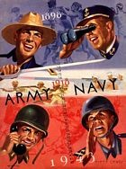 Site with vintage Army football posters