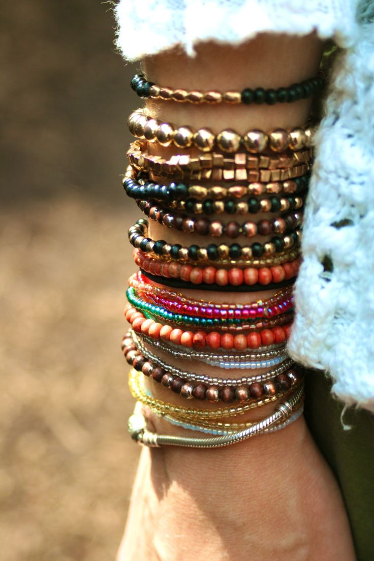 you can never have enough bracelets!