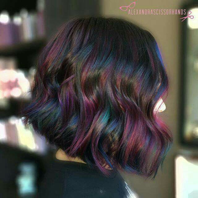 Opal oil slick hair color