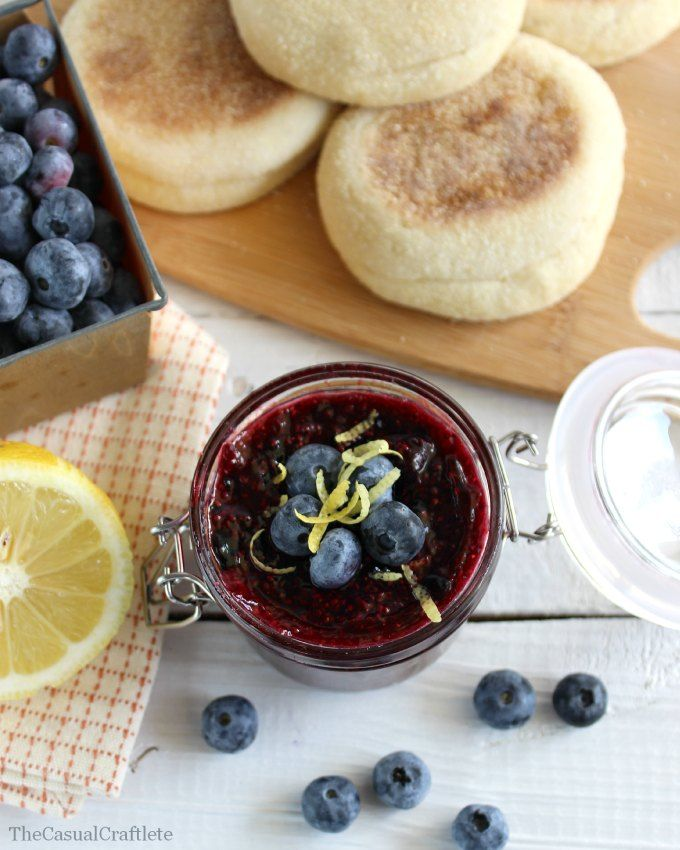 Lemon Blueberry Chia Jam  www.thecasualcraftlete.com