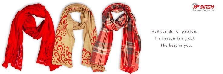Beautiful cut works, classic checks & More options of scarves in semi - pashmina.