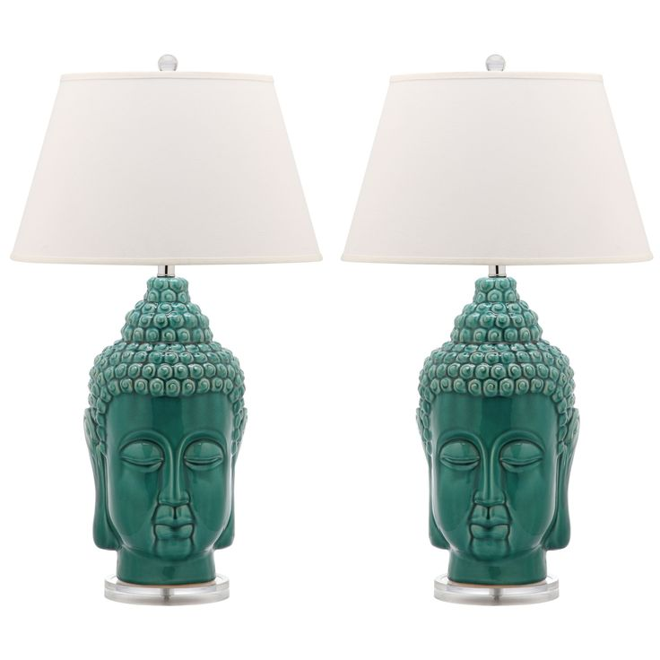$150 The Serenity Buddha ceramic lamp adds purity and pop to contemporary settings.