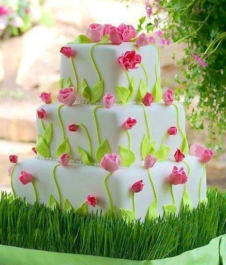 70th birthday cakes for women | Tulips cake image via Colorfull at ... | Seventy Years Birthday Party ...