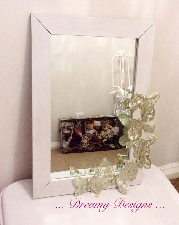 Hand painted up-cycled mirror by Dreamydesigns01 on Etsy