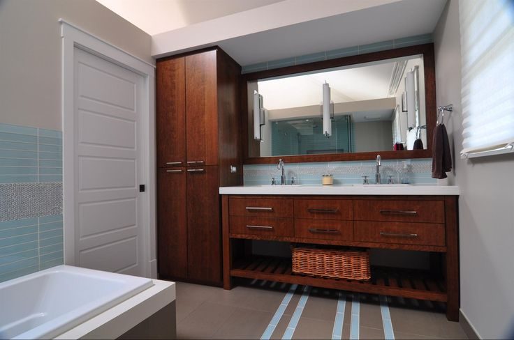 Evanston Bathroom Remodel ft custom Vanity