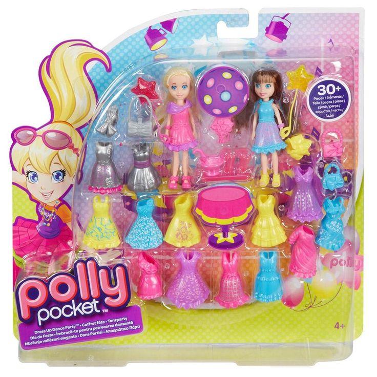 Polly Pocket - Conjunto 2 Amigas Fashion Roupa de Festa - Mattel -Brinquedos - Boneca Polly - Walmart.com