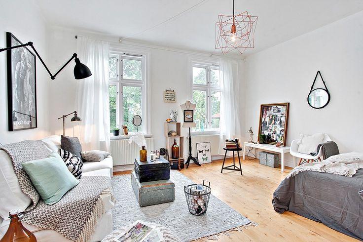 Wohnzimmer im nordischen Stil #scandi Inredning Pinterest - nordische wohnzimmer