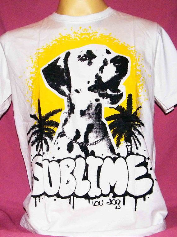Sublime Lou dog reggae ska punk band handmade t shirt by song2mona, $14.99