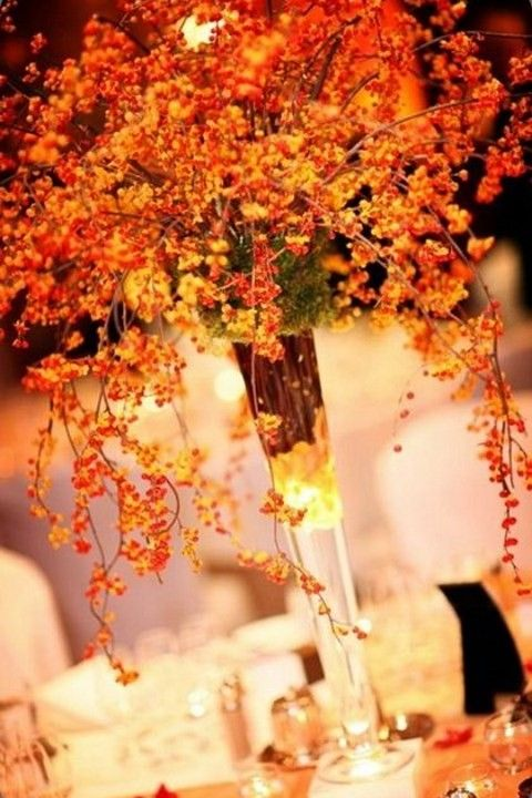 45 Fall Wedding Centerpieces That Inspire | HappyWedd.com