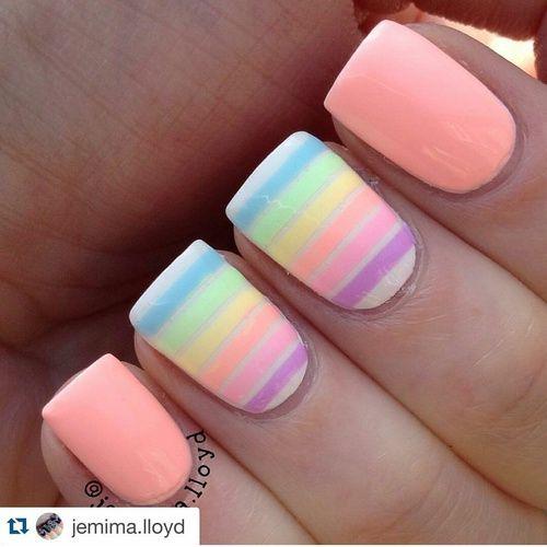 Neon Pastel Nails