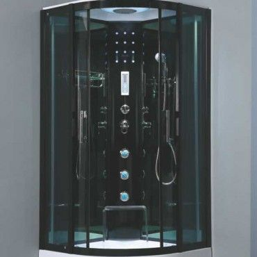 Enhance Your Bathroom With This Sleek Stand Up Luxury Shower Room Built In Radio
