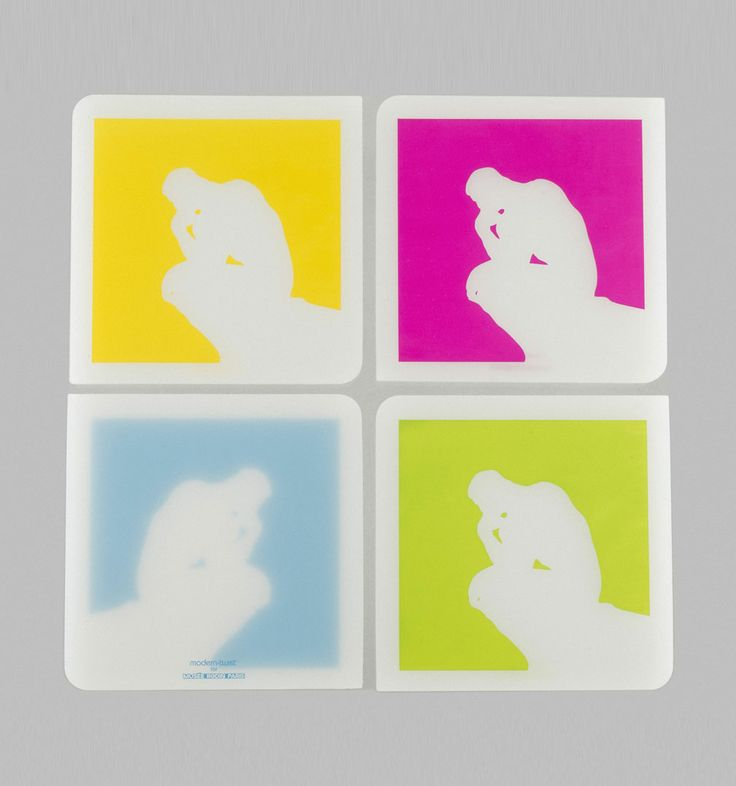 4 #Coasters Box The Thinker, 29 € / © Musée Rodin, photo: Jacques Gavard / http://boutique.musee-rodin.fr/en/home-accessories/266-box-of-4-coasters-the-thinker.html