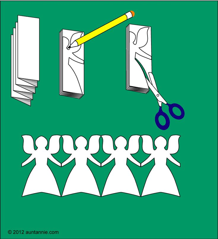 How to cut paper angel chains - boys room ceiling with white lights