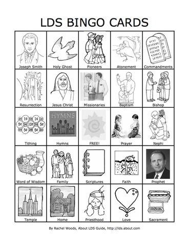 5 Fabulous Quiet Activities for Sacrament Meeting: #LDS Picture Bingo #mormon