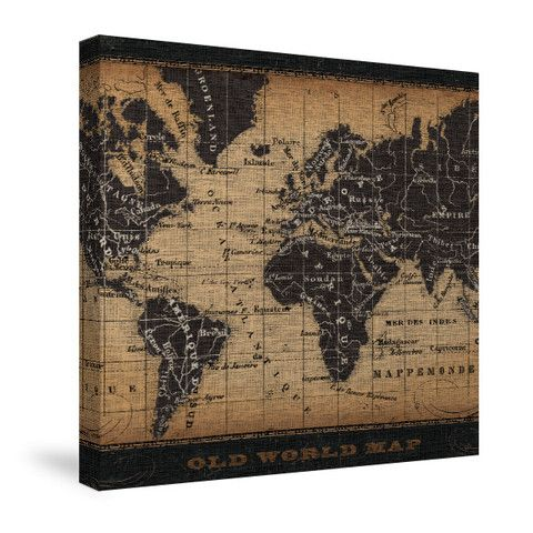 55 best world map images on pinterest worldmap home ideas and old world map canvas wall art laural home gumiabroncs Images