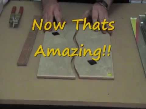 How to Cut Shapes in Tile Without a Wetsaw  Buy The Amazing Tile & Glass Cutter  www.TheAmazingTileAndGlassCutter.com USA www.TheAmazingTileAndGlassCutter.co.uk in Europe Made in Scotland , This tool can cut shapes in Ceramic, Porcelain, Thick Quarry Tile, Even Glass, Great on Glass Tiles and Mirror - Stained Glass and Mosaic Artists Love it. Check out the Rodsaw Too for those awkward cuts around the electrical outlets, switches and pipes.