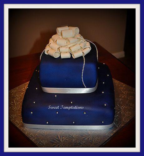 Royal Blue Wedding Cake By Sweet Temptations Plus Via Flickr