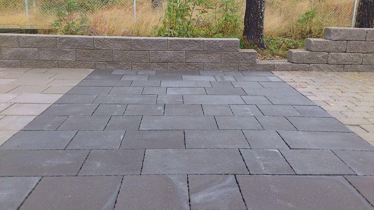 Marksten, betongplatta