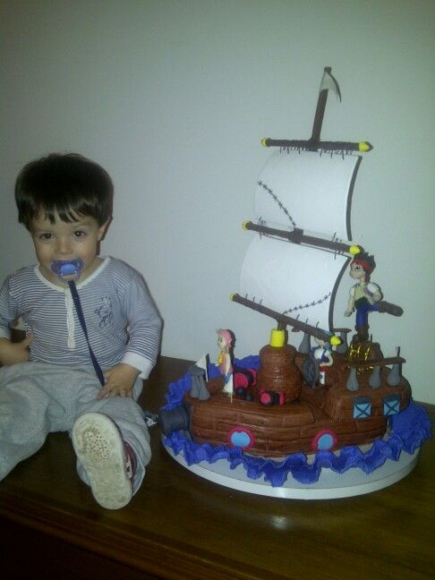 Barco pirata y Fede