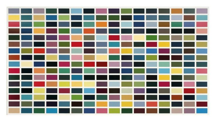 256 Farben (256 Colors), 1974 by Gerhard Richter - Paper Print - SFMOMA - Custom…