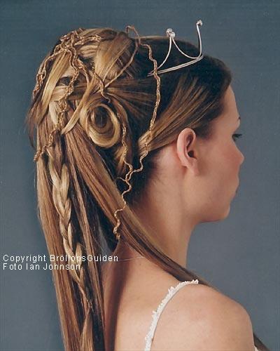 Brudfrisyrer, bröllopsfrisyrer, håruppsättningar. Håruppsättning som brudfrisyr, foton som går att förstora. - BröllopsGuiden
