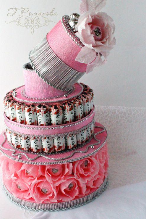 Gallery.ru / Оформление шампанского) - Торты и тортики из конфет) - Galina2405