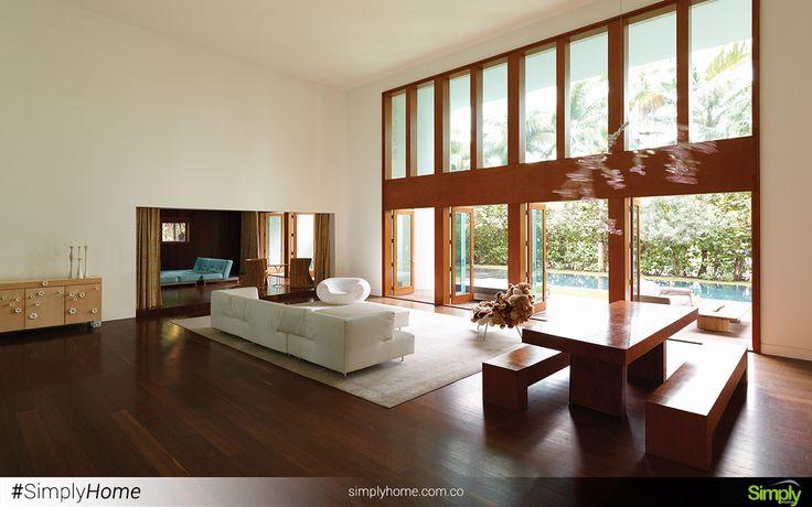 La iluminación es importante y más cuando puedes hacerla natural. #SimplyHome #SimplyHomeCol #Simply #Home #Decoracion