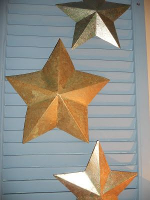 See how I made these  cardboard stars look like the metal ones.