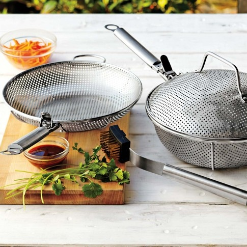 WOWZERS!  Williams-Sonoma Steel Outdoor Cookware (set of 3, $99.95 + s/h).  Mmmmm: vegetable cookery paradise!!