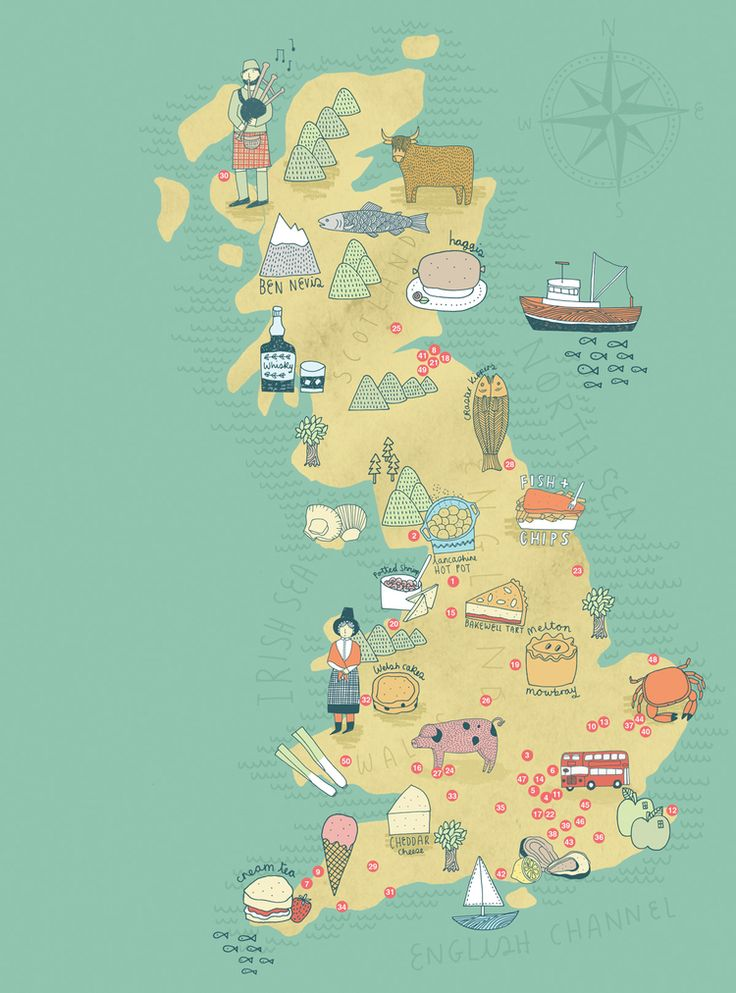 Great Britain, by Kate Sutton #map #greatbritain #uk