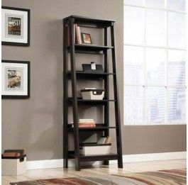 Ladder Bookshelf - 6 Shelf -Black