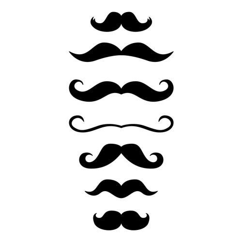 Pochoir moustaches - 10x15 cm
